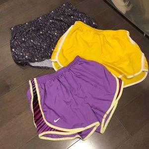 3 pairs sz S Nike running shorts